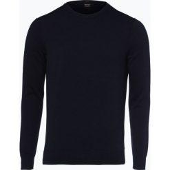 BOSS Casual - Sweter męski z dodatkiem kaszmiru – Kwasiros, niebieski. Niebieskie swetry klasyczne męskie BOSS Casual, m, z kaszmiru. Za 219,95 zł.