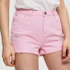 Szorty damskie: Jeansowe szorty mom fit – Różowy