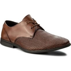 Półbuty CLARKS - Bampton Weave 261321847  Tan Leather. Brązowe półbuty skórzane męskie Clarks. W wyprzedaży za 199,00 zł.