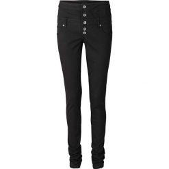 Spodnie z wysoką talią bonprix czarny. Czarne spodnie z wysokim stanem bonprix, w paski. Za 99,99 zł.