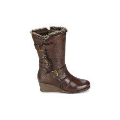 Kozaki Lotus  KRISSY. Brązowe buty zimowe damskie Lotus. Za 405,30 zł.