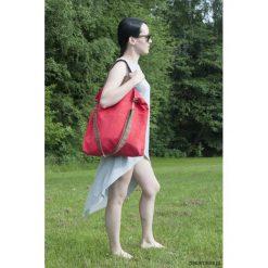 Torba hobo XXL - czerwony, karmelowy brąz. Czerwone torebki klasyczne damskie Pakamera, z syntetyku. Za 127,00 zł.