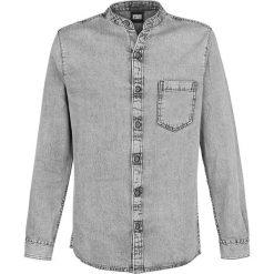 Urban Classics Stand Collar Denim Shirt Koszula szary. Czarne koszule męskie na spinki marki Urban Classics, s, z materiału, z koszulowym kołnierzykiem, z długim rękawem. Za 121,90 zł.