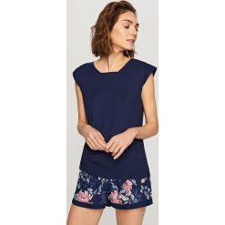 Piżamy damskie: Dwuczęściowa piżama – Granatowy