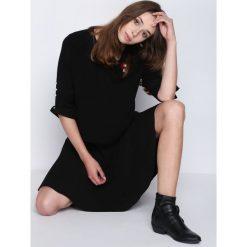 Swetry klasyczne damskie: Czarny Sweter Never Easy