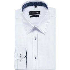 Koszula MICHELE KDBE000351. Białe koszule męskie jeansowe marki Giacomo Conti, m, z klasycznym kołnierzykiem, z długim rękawem. Za 149,00 zł.