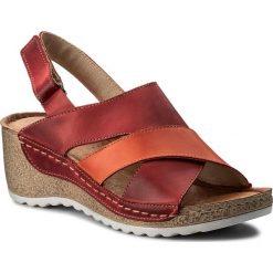 Rzymianki damskie: Sandały WASAK - 0493 Czerwony Pomarańczowy