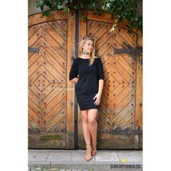 Sukienki dresowe: Sukienka taliowana z kieszeniami czarna