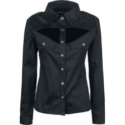 Gothicana by EMP Fiona Bluzka damska czarny. Czarne bluzki koszulowe Gothicana by EMP, xxl, z długim rękawem. Za 184,90 zł.