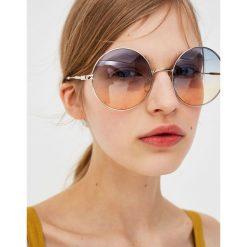 Okulary przeciwsłoneczne damskie: Okrągłe okulary przeciwsłoneczne z cieniowanymi szkłami