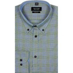 Koszula croft 1956 długi rękaw slim fit niebieski. Czarne koszule męskie na spinki marki TOM TAILOR DENIM, l, z bawełny, button down, z długim rękawem. Za 29,99 zł.