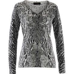 Sweter rozpinany bonprix czarny leo. Białe kardigany damskie marki Reserved, l. Za 54,99 zł.