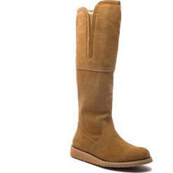 Kozaki EMU AUSTRALIA - Quin Hi W11286 Chestnut. Brązowe buty zimowe damskie EMU Australia, ze skóry, przed kolano, na wysokim obcasie. Za 859,00 zł.