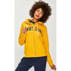 Tommy Jeans - Bluza. Szare bluzy rozpinane damskie Tommy Jeans, l, z nadrukiem, z bawełny, z kapturem. W wyprzedaży za 319,90 zł.