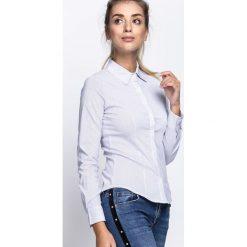 Biało-Granatowa Koszula Together Forever. Białe koszule damskie Born2be, l, w prążki, z materiału. Za 44,99 zł.