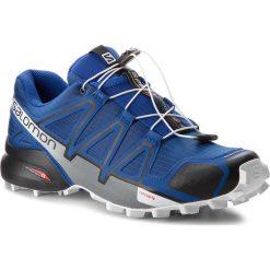 Buty SALOMON - Speedcross 4 404641 27 V0 Mazarine Blue Wil/Black/White. Szare buty do biegania męskie marki Salomon, z gore-texu, na sznurówki, gore-tex. W wyprzedaży za 389,00 zł.