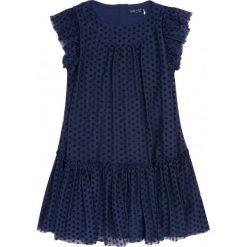 Sukienki dziewczęce na ramiączkach: Tiulowa sukienka w groszki dla dziewczynki 9-13 lat