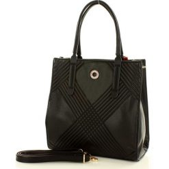 MONNARI Miejska torebka shopper bag czarny. Czarne shopper bag damskie Monnari, w paski, ze skóry ekologicznej, na ramię. Za 169,00 zł.