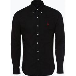 Polo Ralph Lauren - Koszula męska, czarny. Czarne koszule męskie na spinki Polo Ralph Lauren, m, z haftami, z kontrastowym kołnierzykiem. Za 449,95 zł.
