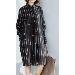 Koszule damskie: Koszula w kolorze czarnym ze wzorem