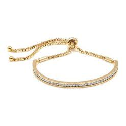 Bransoletki damskie: Pozłacana bransoletka z kryształami Swarovski