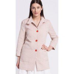 Trussardi Jeans - Płaszcz. Szare płaszcze damskie marki Trussardi Jeans, s, z bawełny. W wyprzedaży za 639,90 zł.
