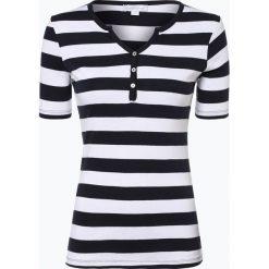 Brookshire - T-shirt damski, czarny. Czarne t-shirty damskie brookshire, m, w paski, z bawełny, z kołnierzem typu henley. Za 89,95 zł.