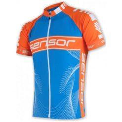 Sensor Męska Koszulka Rowerowa Cyklo Team Blue/Orange. Niebieskie odzież rowerowa męska marki Sensor, m, z materiału, z krótkim rękawem. W wyprzedaży za 189,00 zł.
