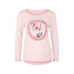 S.Oliver T-Shirt Damski M Różowy. Czerwone t-shirty damskie S.Oliver, m, z nadrukiem, z okrągłym kołnierzem. Za 119,00 zł.