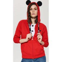 Bluza Mickey Mouse z uszami - Czerwony. Czerwone bluzy damskie marki House, l, z motywem z bajki. Za 99,99 zł.