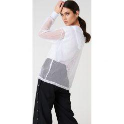 Rut&Circle Siateczkowa bluza oversize z kapturem - White. Białe bluzy z kapturem damskie Rut&Circle, z poliesteru. W wyprzedaży za 60,98 zł.