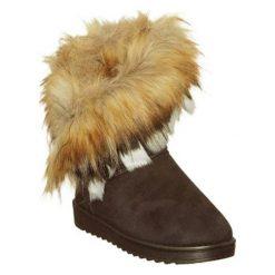 Skórzane botki w kolorze brązowym. Brązowe buty zimowe damskie Carla Samuel, na zimę. W wyprzedaży za 169,95 zł.