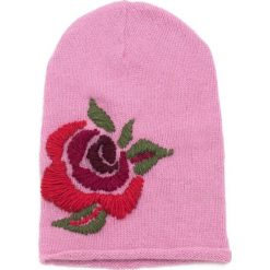 Czapka damska Różany haft różowa. Czerwone czapki zimowe damskie Art of Polo, z haftami. Za 61,09 zł.