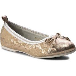Baleriny MAGIC LADY - CS16001  Złoty. Żółte baleriny dziewczęce marki Magic Lady, z materiału. Za 59,99 zł.