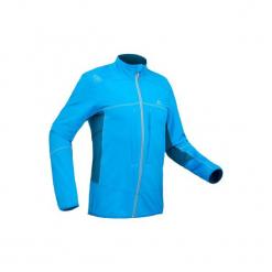 Kurtka turystyczna softshell SH900 Warm męska. Niebieskie kurtki męskie bomber QUECHUA, na zimę, m, z elastanu. Za 199,99 zł.