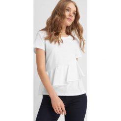 T-shirty damskie: Koszulka z falbaną