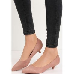 Różowe Czółenka Ducky Duck. Czerwone buty ślubne damskie Born2be, ze szpiczastym noskiem, na obcasie. Za 49,99 zł.