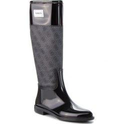Kalosze GUESS -  FLSSY3 RUB11  GREBL. Niebieskie buty zimowe damskie marki Guess, z materiału. Za 529,00 zł.