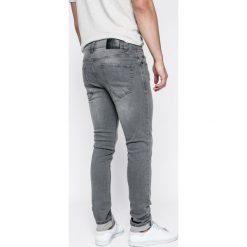 Only & Sons - Jeansy Loom med grey. Szare jeansy męskie slim marki Only & Sons, z aplikacjami, z bawełny. W wyprzedaży za 79,90 zł.