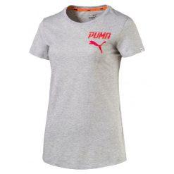 Puma Koszulka Athletic Tee W Light Gray Heather S. Brązowe bluzki sportowe damskie marki Puma, s. W wyprzedaży za 59,00 zł.