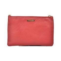 Torebki klasyczne damskie: Skórzana torebka w kolorze czerwonym – (S)27 x (W)18 cm