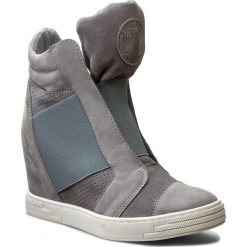 Sneakersy damskie: Sneakersy ROBERTO – 528/D C. Szary Nubuk/C. Szary Welur