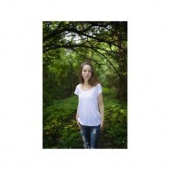 T-shirt bamboo/ z organicznej bawełny. Białe t-shirty damskie marki Siss, m, z bawełny. Za 150,00 zł.