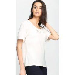 Bluzki damskie: Kremowy T-shirt Subtype