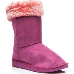 Buty zimowe damskie: Mukluki śniegowce ciepłe za kostkę Fioletowe