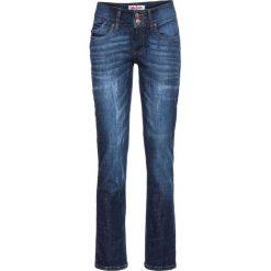 Dżinsy ze stretchem STRAIGHT bonprix ciemnoniebieski. Zielone jeansy damskie marki bonprix, w kropki, z kopertowym dekoltem, kopertowe. Za 109,99 zł.