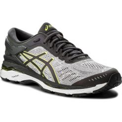 Buty ASICS - Gel-Kayano 24 Lite-Show T8A4N Mid Grey/Dark Grey/Safety Yellow 9695. Szare buty do biegania męskie Asics, z materiału, asics gel kayano. W wyprzedaży za 519,00 zł.