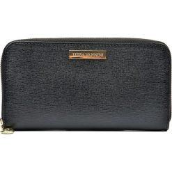 Portfele damskie: Skórzany portfel w kolorze czarnym – 20 x 11 x 2,5 cm