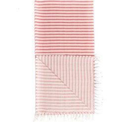 Kąpielówki męskie: Chusta hammam w kolorze czerwono-białym – 180 x 100 cm