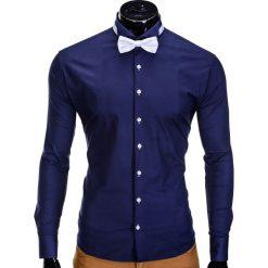 Koszule męskie: Koszula K309 – GRANATOWA